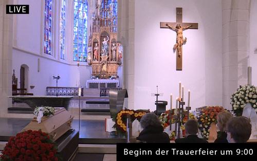 COVID-19 Trauerfeier via Livestream.